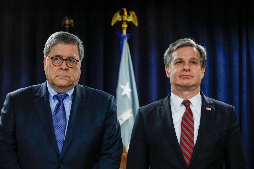 Why Does Barr Let Wray Lie and Flout the Law?